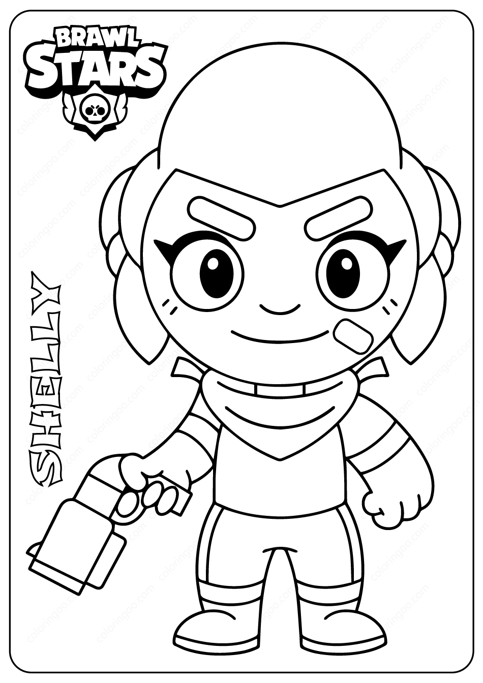 brawl star coloring pin on draw it cute coloring pages coloring brawl star