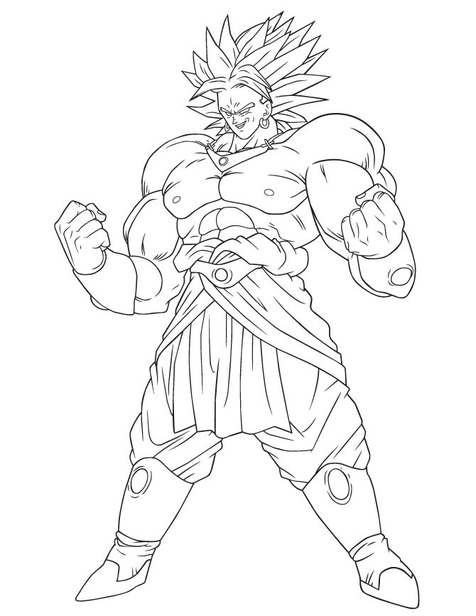 broly coloring pages how to draw legendary super saiyan broly dragon ball pages broly coloring