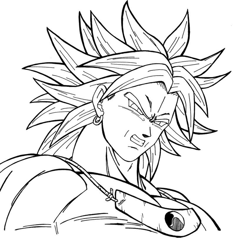 broly coloring pages lineart broly lssj by el maky z on deviantart broly pages coloring
