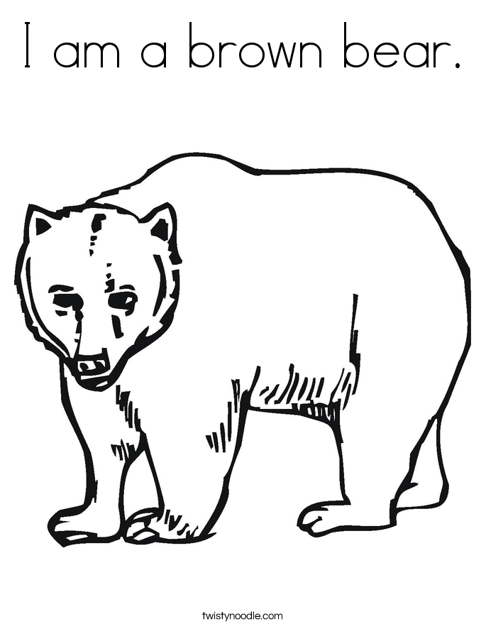 brown bear coloring pages i am a brown bear coloring page twisty noodle brown coloring bear pages