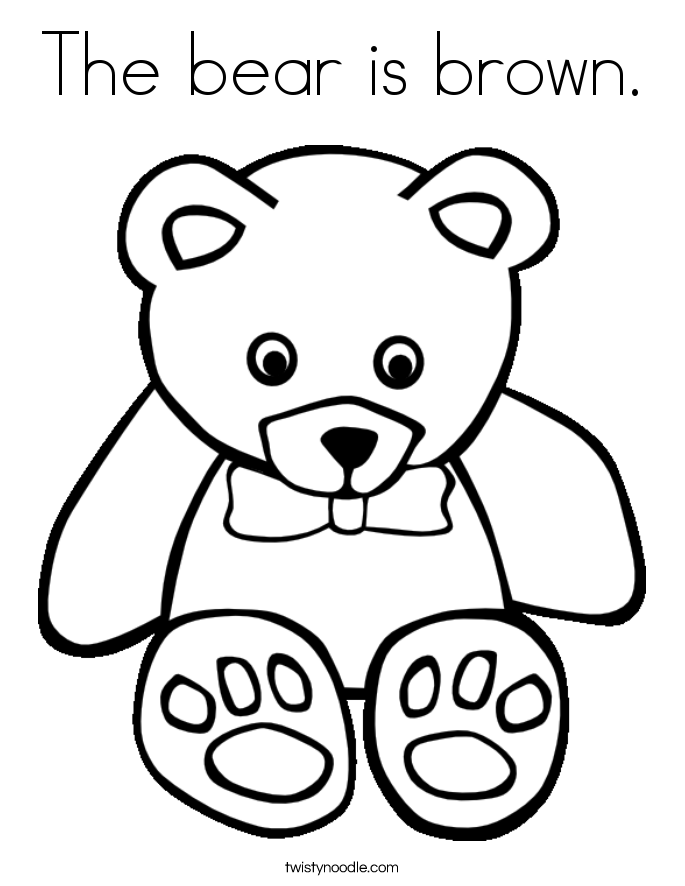 brown bear coloring pages the bear is brown coloring page twisty noodle bear coloring pages brown