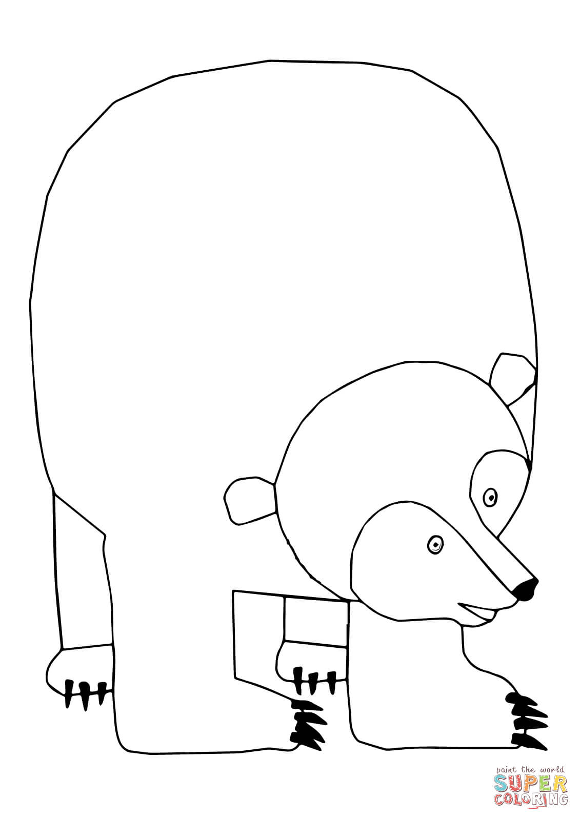 brown bear colouring page 1000 images about brown bear brown bear what do you see colouring brown bear page