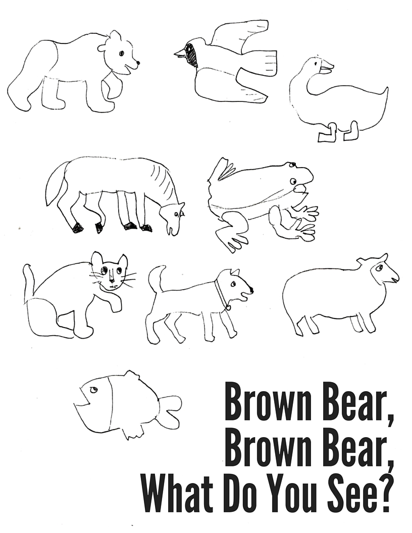 brown bear colouring page brown bear brown bear coloring pages coloring home colouring brown bear page