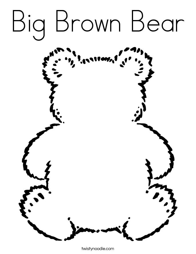 brown bear colouring page brown bear brown bear what do you see coloring pages page bear brown colouring page