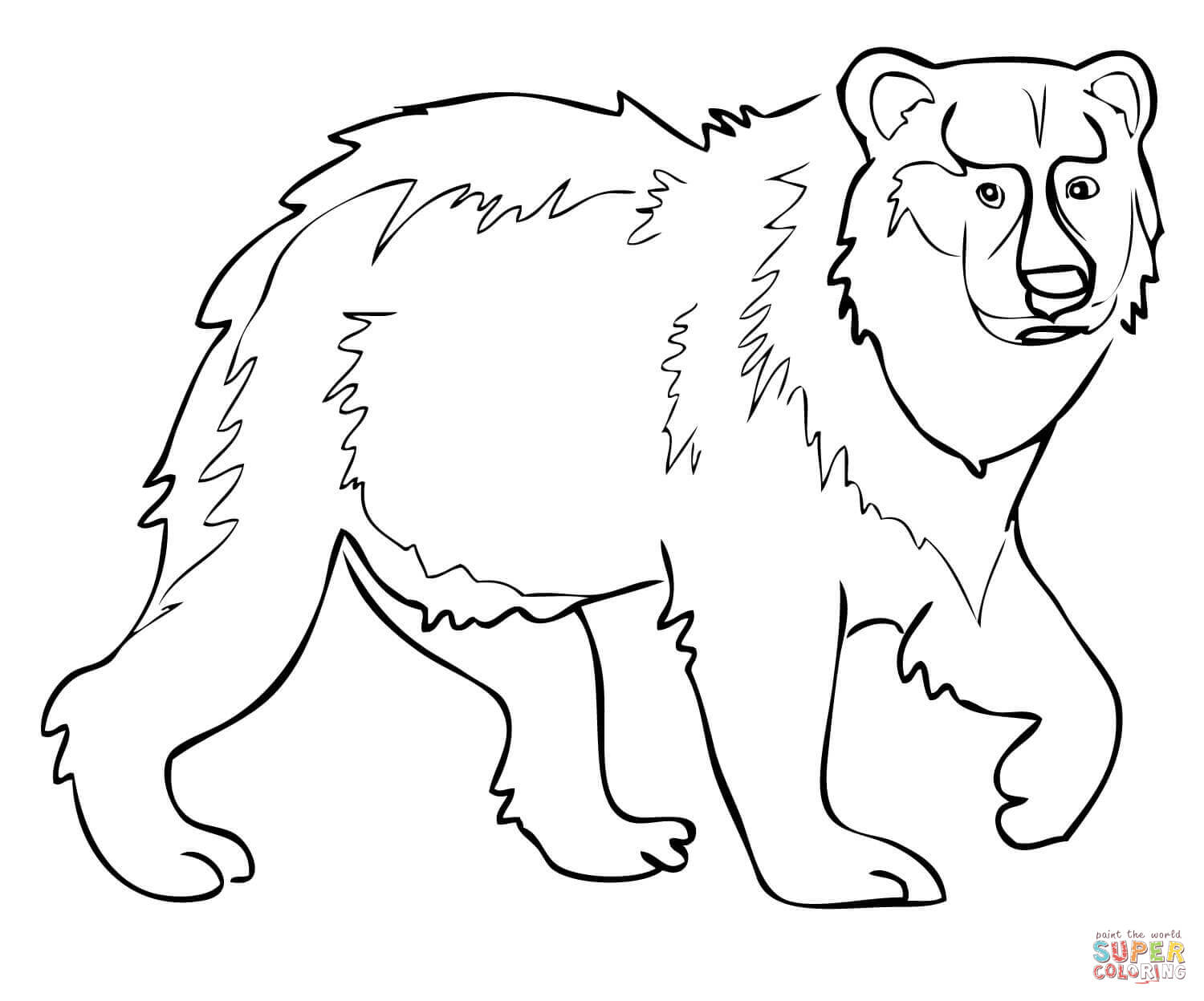brown bear colouring page brown bear coloring page eric carle coloring home page bear brown colouring