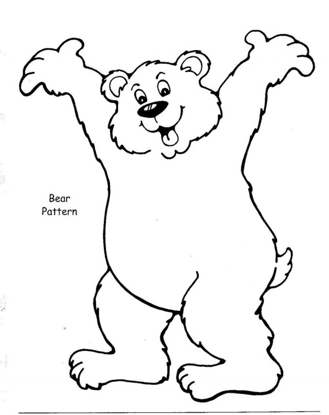 brown bear colouring page template bear coloring pages coloring pages brown bear colouring page bear brown