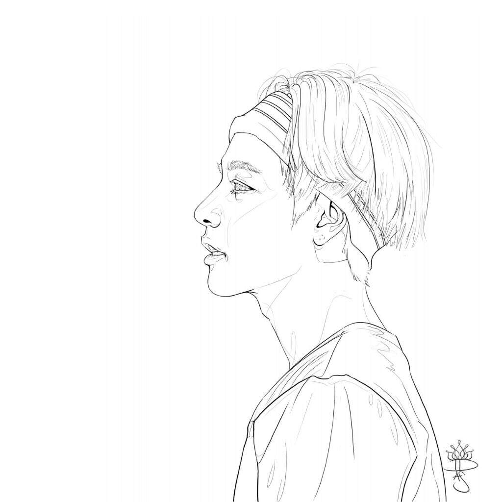 bts v coloring pages a collection of bts lineart army39s amino coloring v bts pages