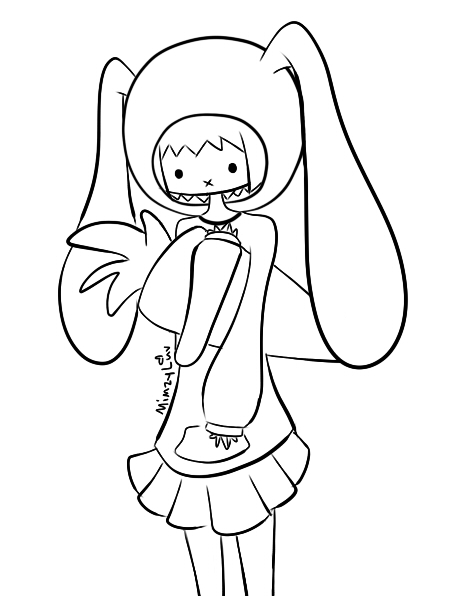 bunny girl coloring page bunny girl coloring book for adult by kim kyung suk bunny girl page coloring