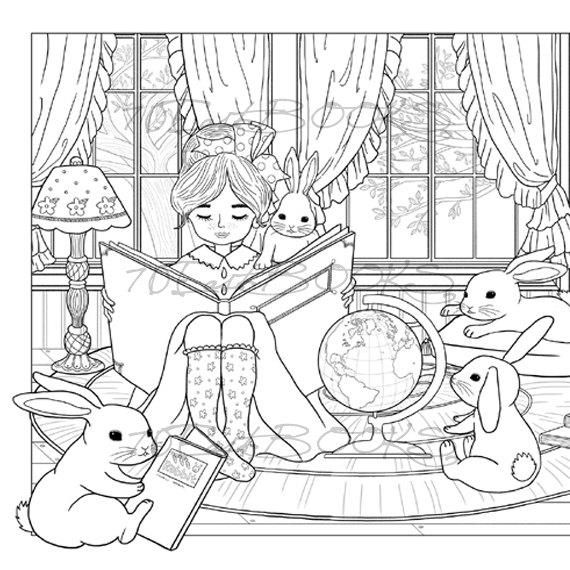bunny girl coloring page bunny39s friends precious moments coloring pages vintage coloring girl page bunny