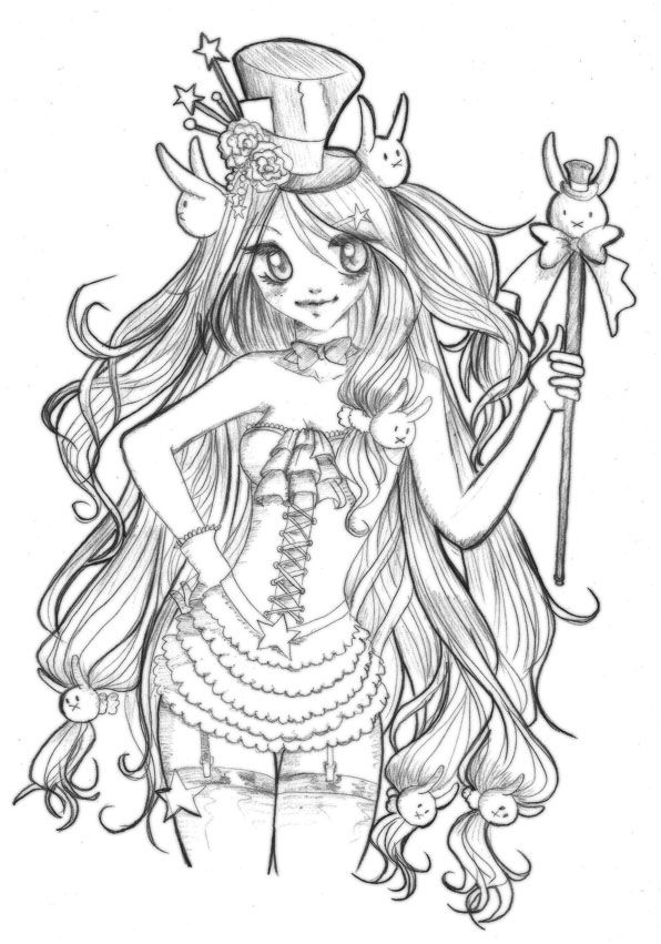 bunny girl coloring page cute chibi anime bunny girl coloring page chibi coloring bunny page girl coloring