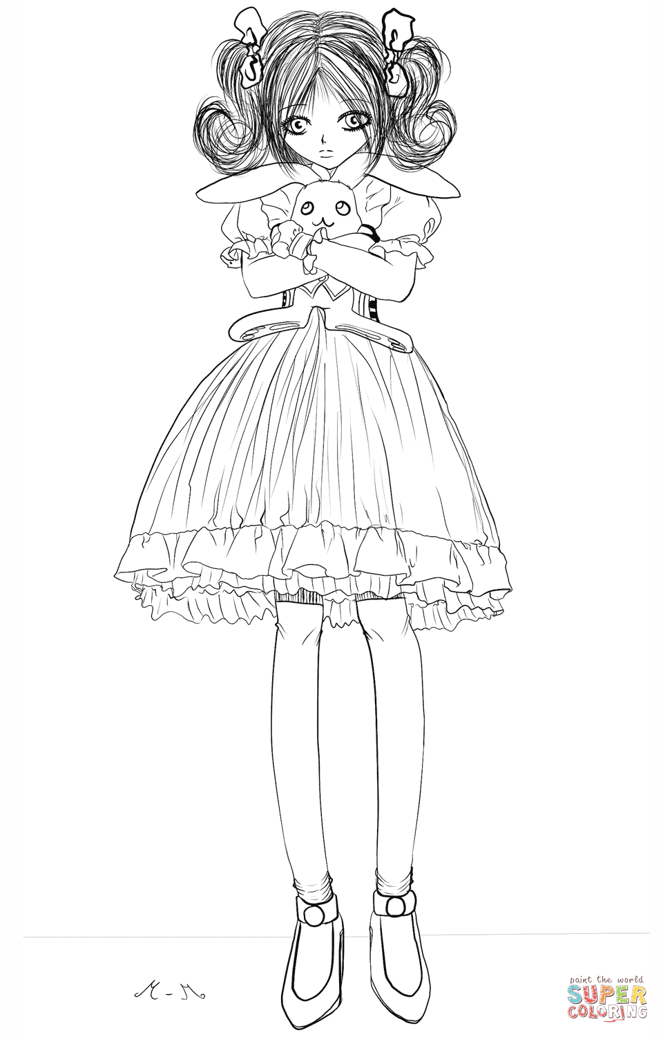 bunny girl coloring page girl with bunny flowers coloring page people coloring girl coloring bunny page