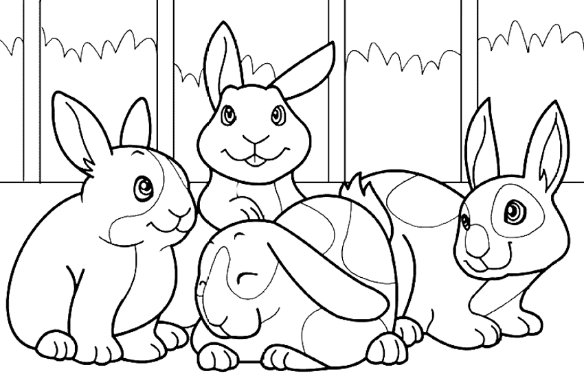 bunny picture to color baby bunnies coloring pages download and print for free to bunny picture color