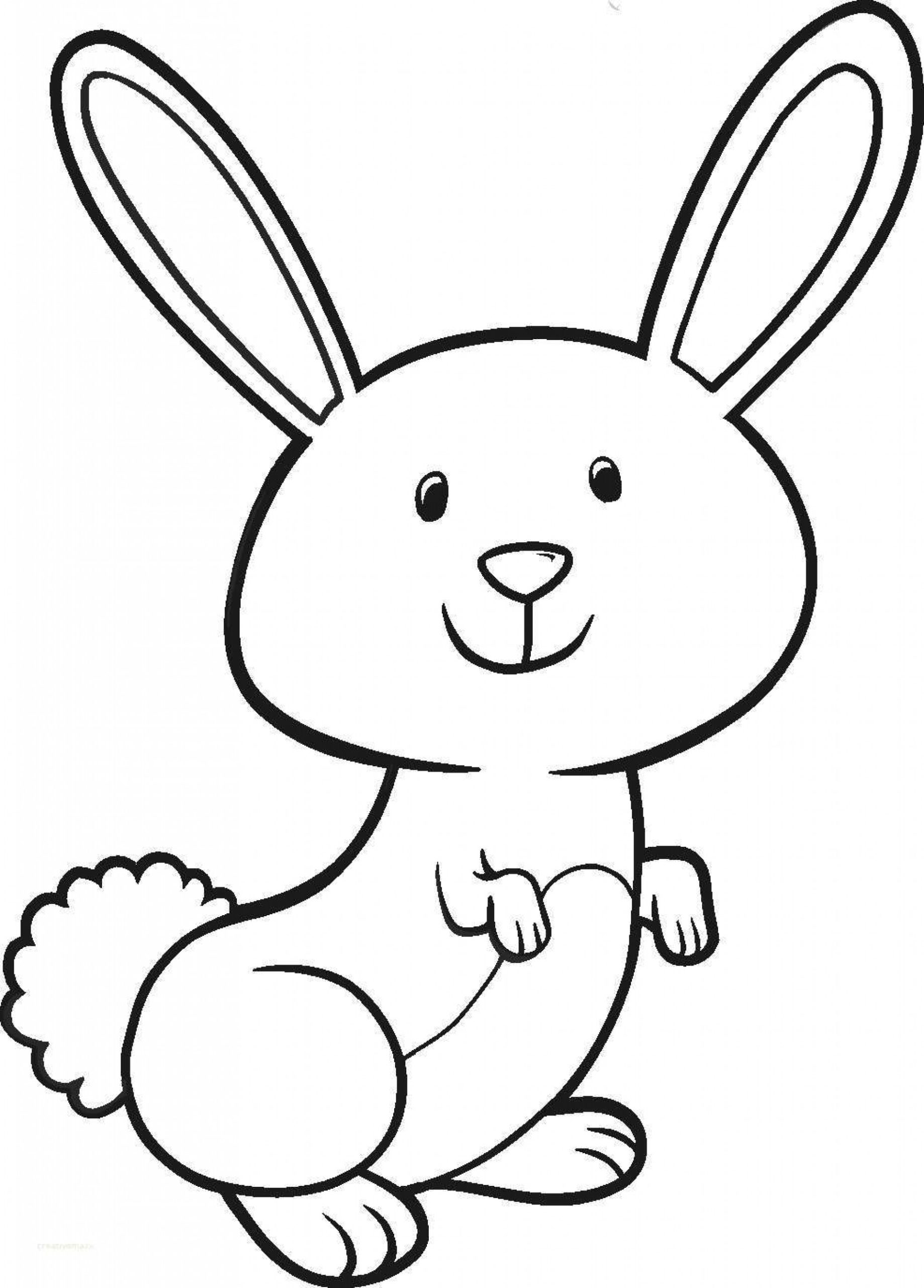 bunny picture to color free printable rabbit coloring pages for kids picture to bunny color