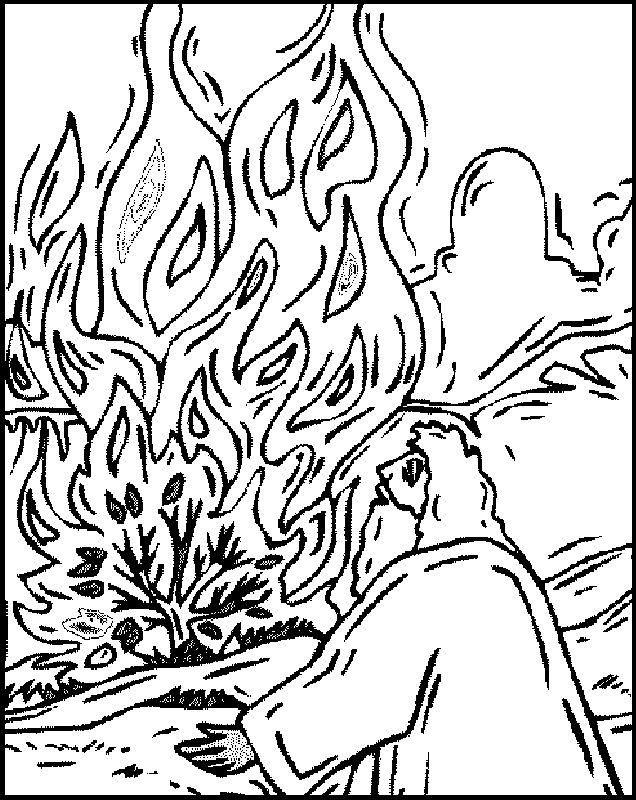 burning bush coloring page passover online coloring pages coloring burning page bush
