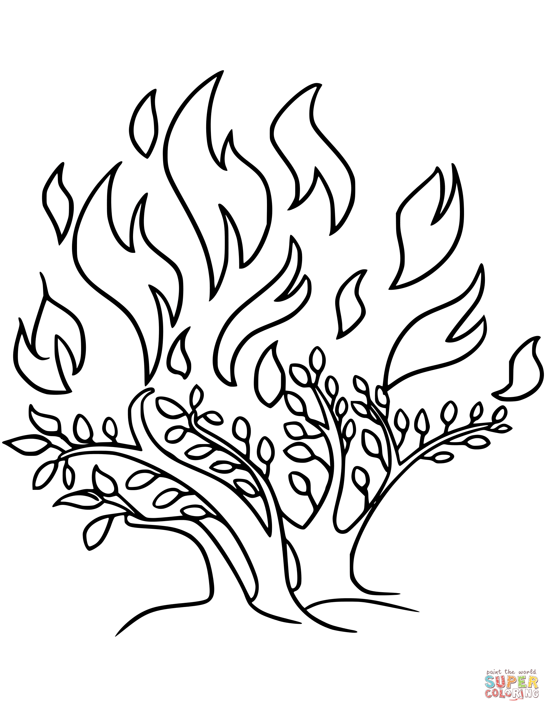 burning bush coloring page the incredible moses burning bush coloring page to coloring bush burning page