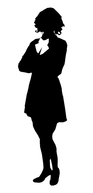 business woman silhouette business female silhouette casually standing woman woman business silhouette