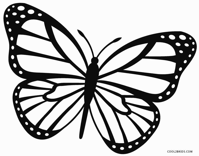 butterfly color page butterfly coloring pages for kids butterfly color page