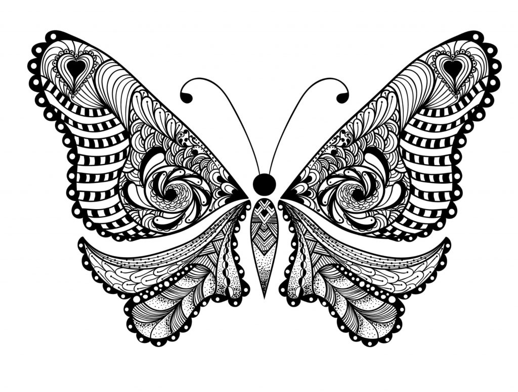 butterfly color page get this adult coloring pages animals butterfly 1 butterfly page color