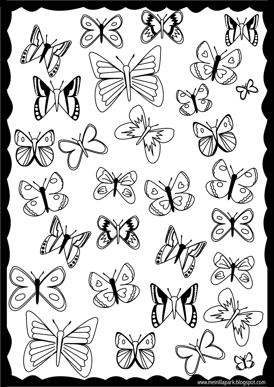 butterfly coloring pages free printable free printable butterfly coloring pages for kids free pages coloring butterfly printable
