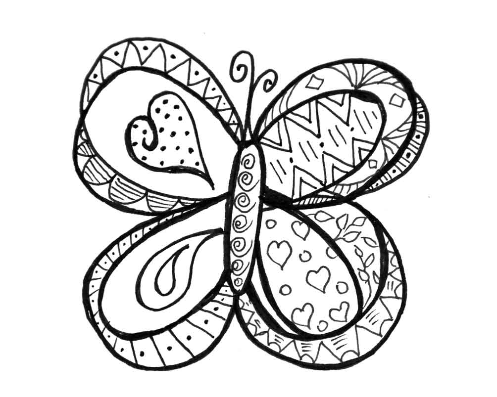 butterfly coloring sheets butterfly doodle coloring page coloring butterfly sheets