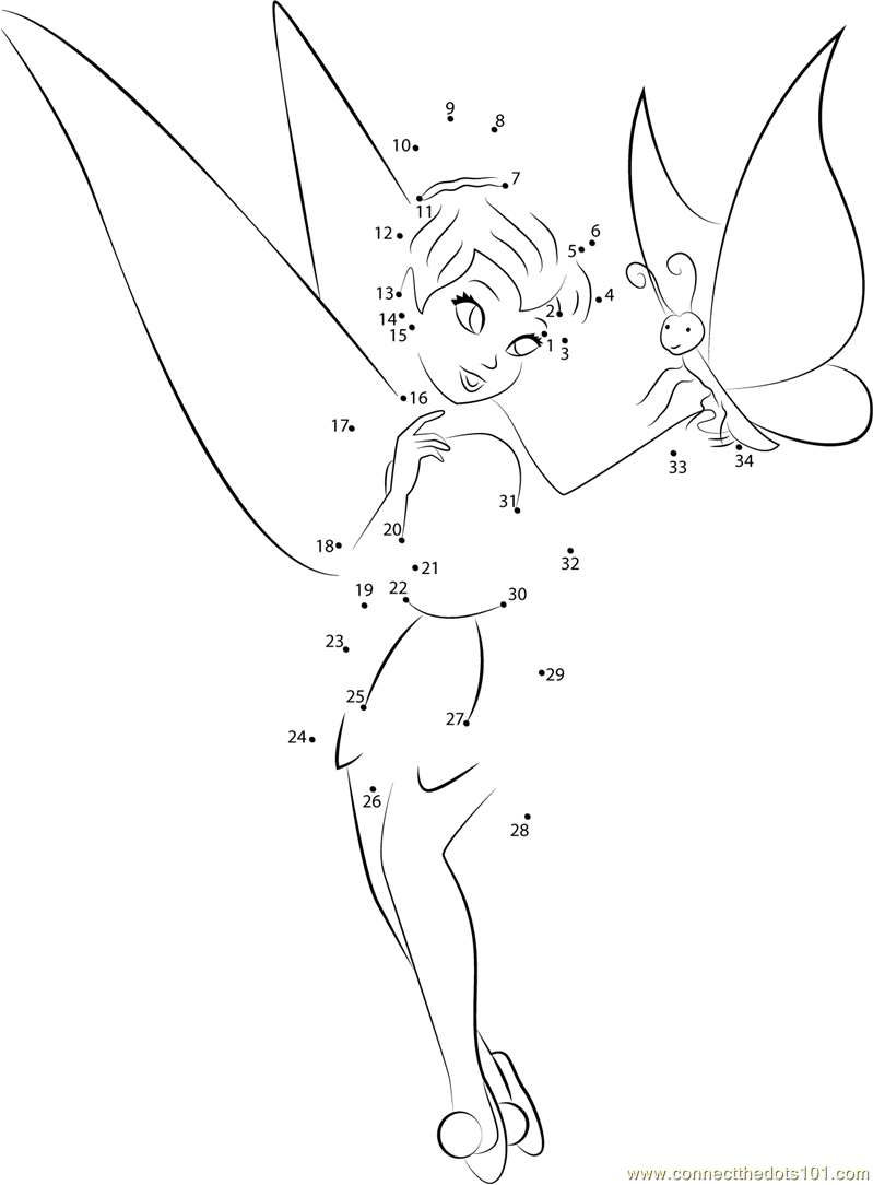 butterfly dot to dot printable tinkerbell with butterfly dot to dot printable worksheet dot butterfly printable dot to