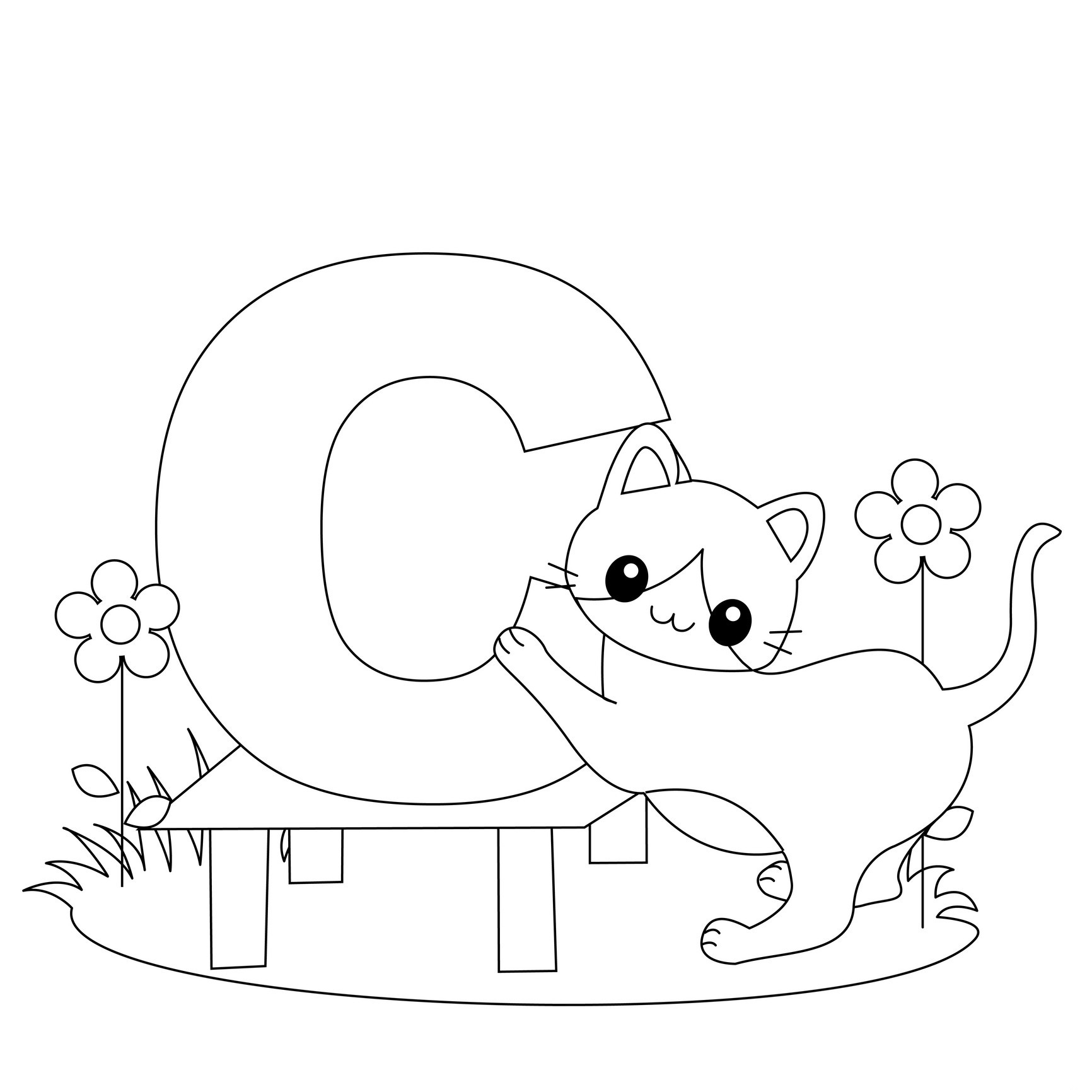 c coloring pages for kids free letter c printable coloring pages for preschool cat pages for c kids coloring