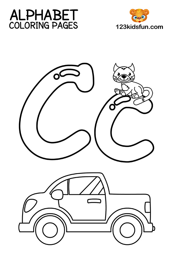 c coloring pages for kids the letter c coloring page for kids free printable picture pages kids c coloring for