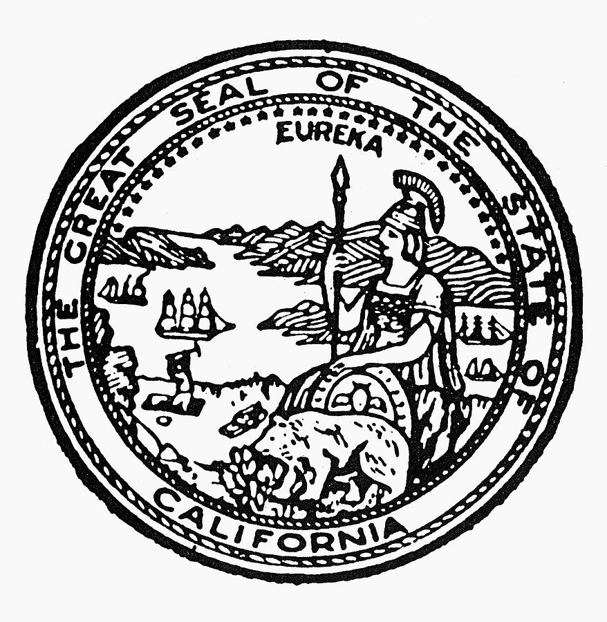 ca state seal california state seal painting by granger seal state ca