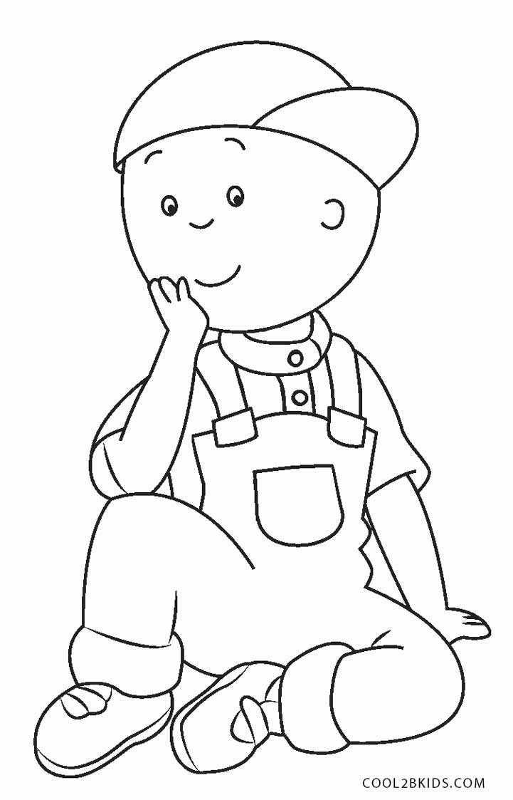 caillou coloring caillou coloring pages coloringall caillou coloring