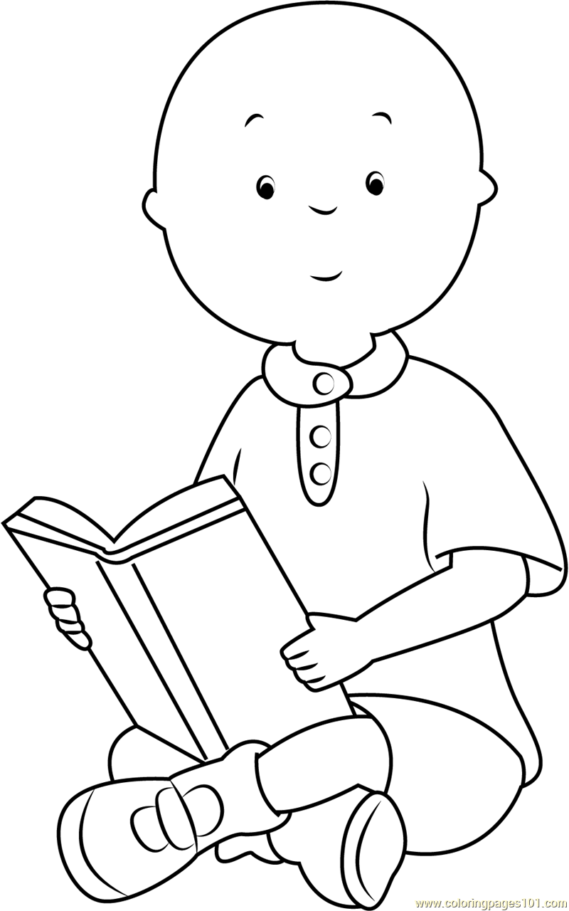 caillou coloring caillou showing a something coloring page free caillou caillou coloring