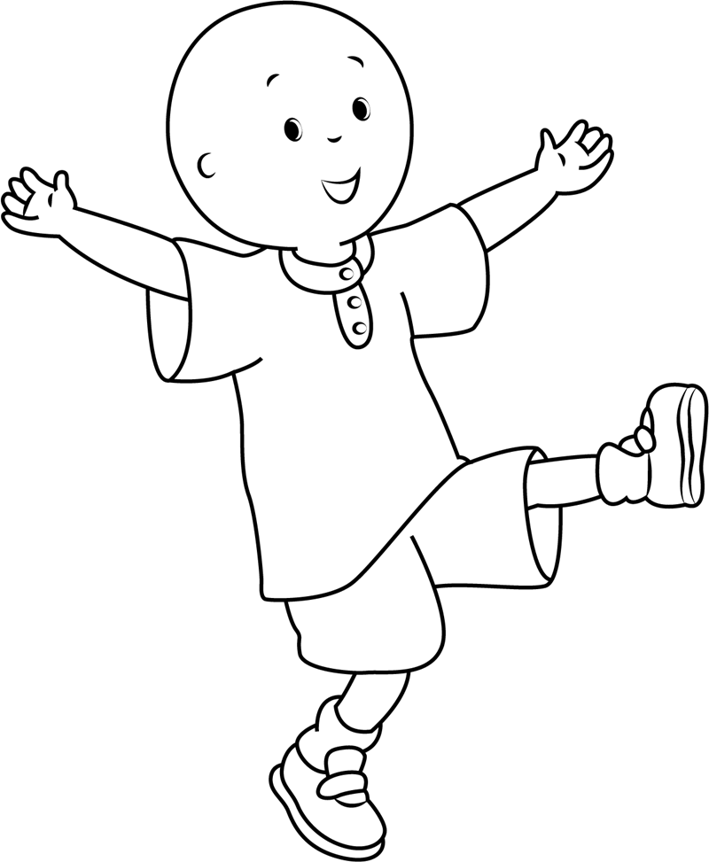 caillou coloring free printable caillou coloring pages for kids coloring caillou