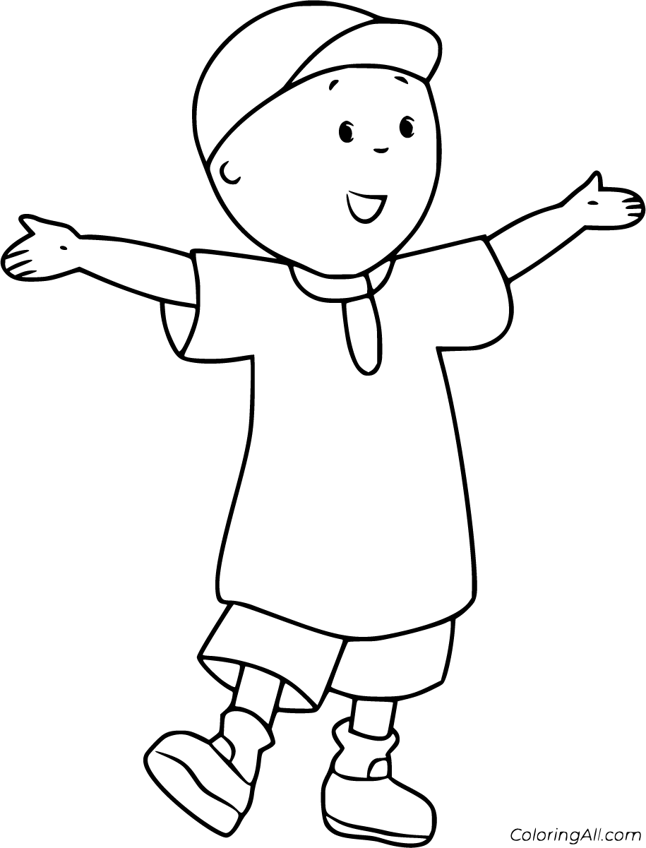 caillou coloring get this printable caillou coloring pages 9wchd caillou coloring