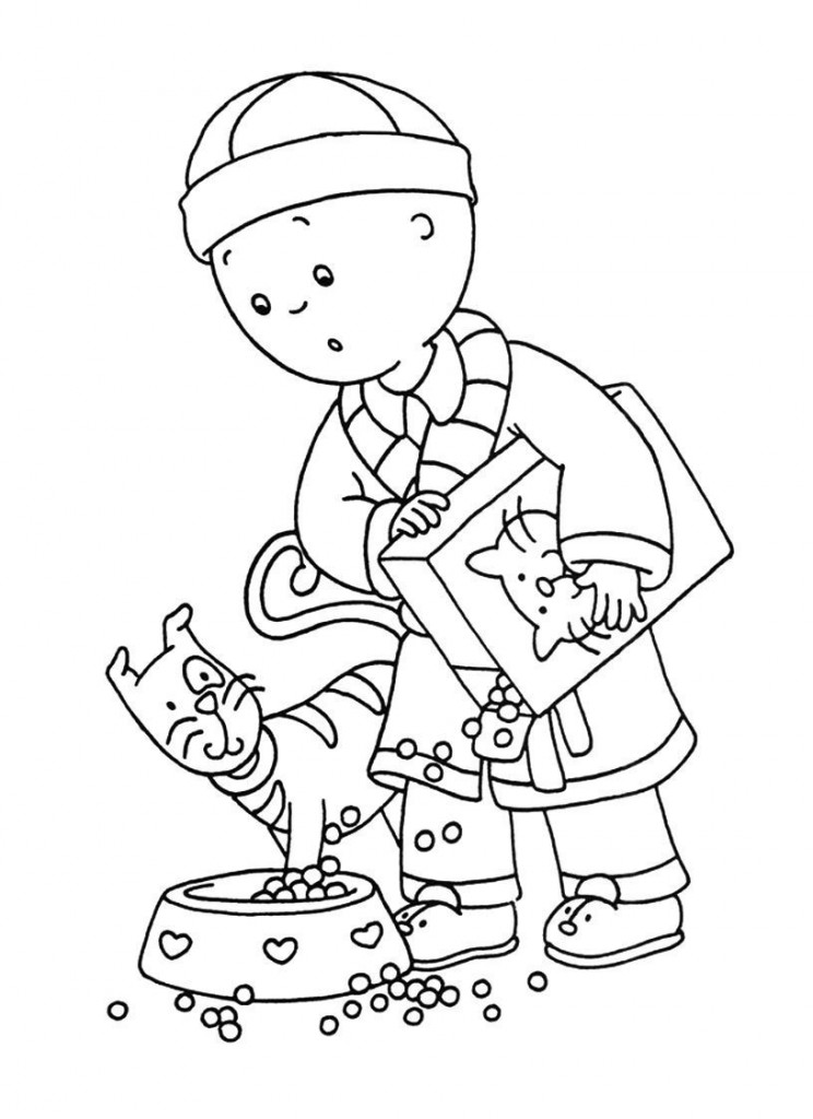 caillou coloring happy caillou coloring page free caillou coloring pages coloring caillou