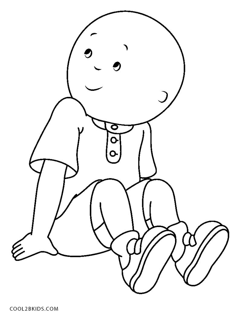 caillou coloring happy caillou coloring page free printable coloring coloring caillou