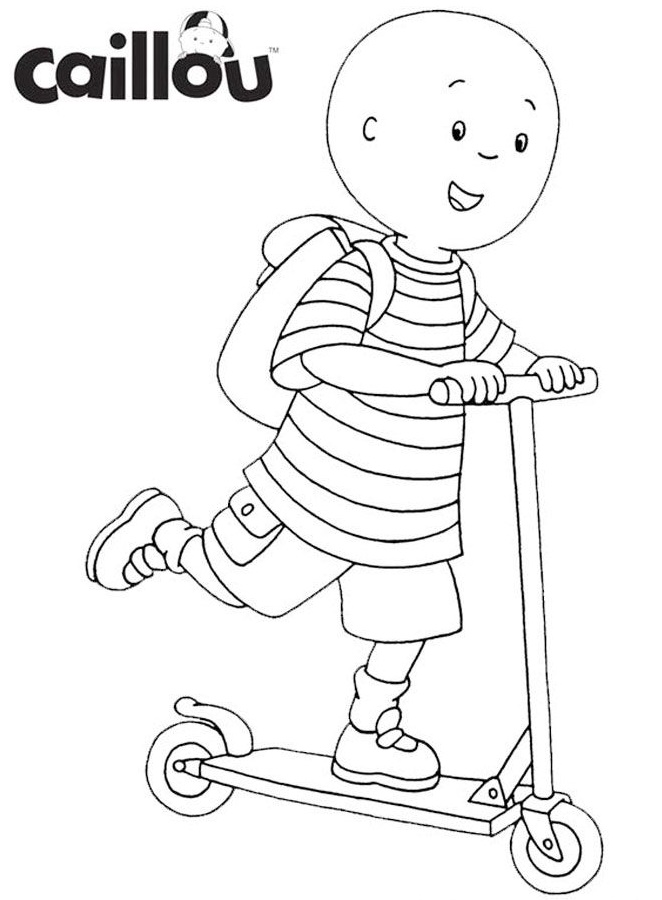 caillou coloring nice caillou write coloring page coloring pages caillou coloring