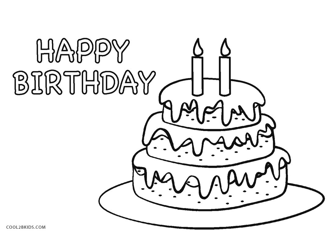 cake coloring image birthday cake coloring pages for kids cake coloring image