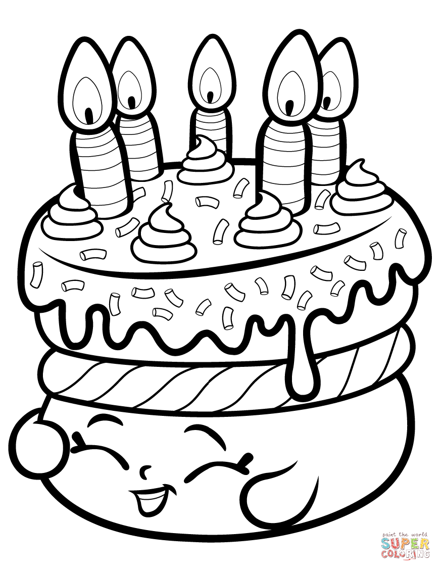 cake coloring image cake wishes shopkin coloring page free printable cake image coloring