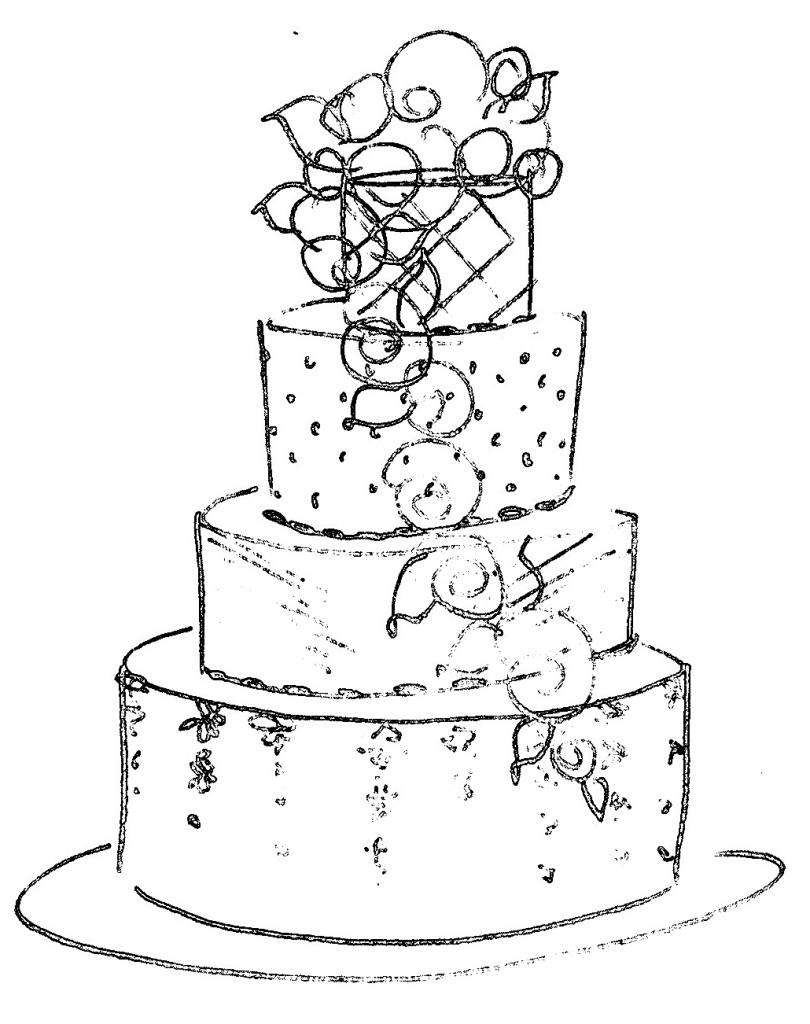 cake drawing mg children39s book illustrations birthday cake line drawing cake drawing