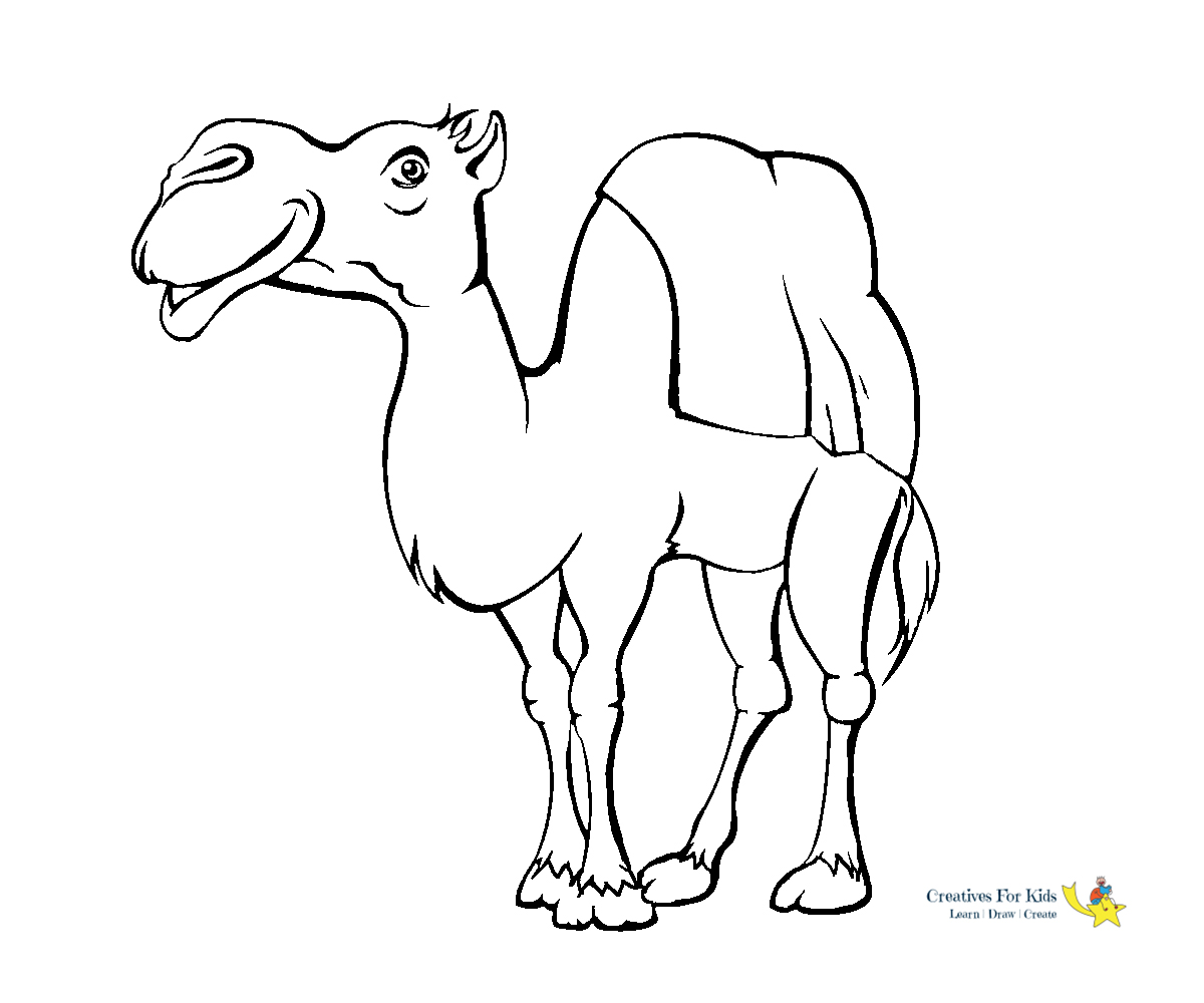 camel pictures to colour free printable camel coloring pages for kids camel to colour pictures