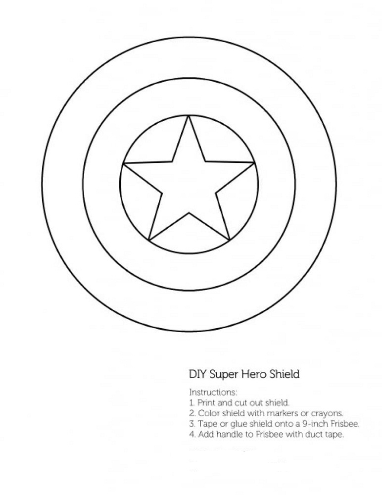 captain america shield coloring pages printable a captain america shield coloring page free printable printable shield america pages coloring captain