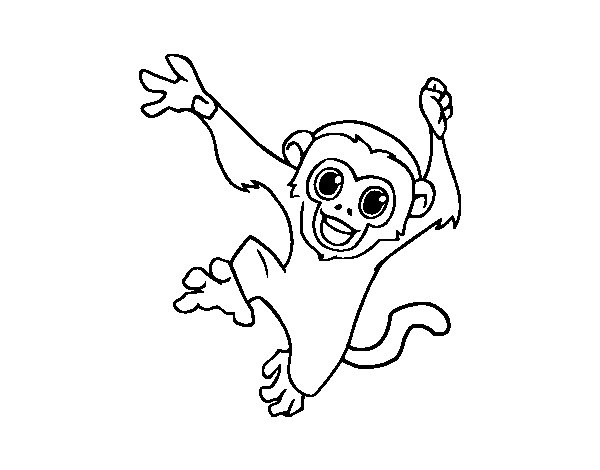 capuchin monkey coloring page coloring page capuchin monkey free printable coloring pages monkey capuchin coloring page