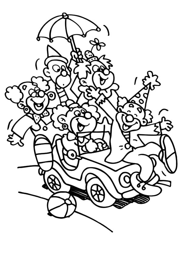carnival clown coloring pages circus coloring pages coloring clown carnival pages