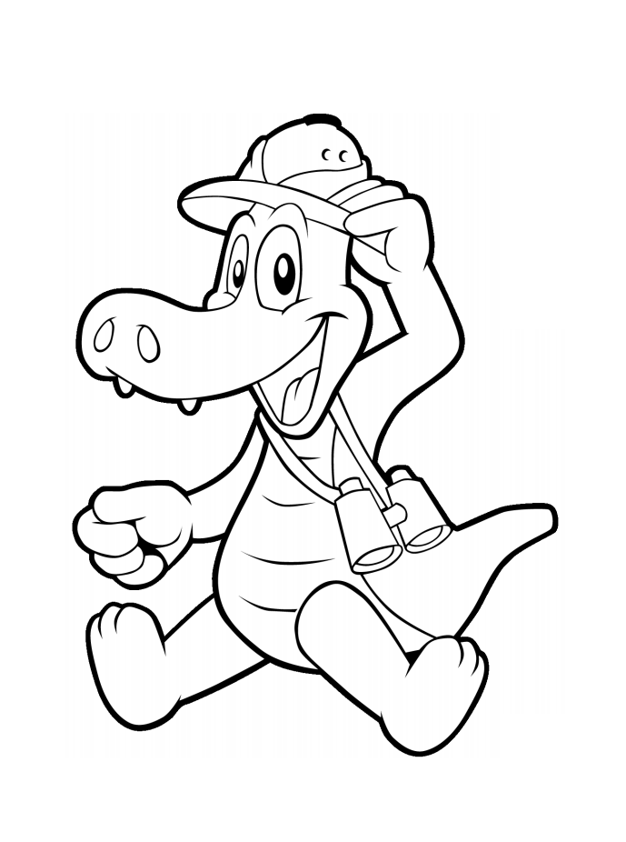 cartoon alligator coloring pages cartoon alligator coloring page free printable coloring pages alligator coloring cartoon
