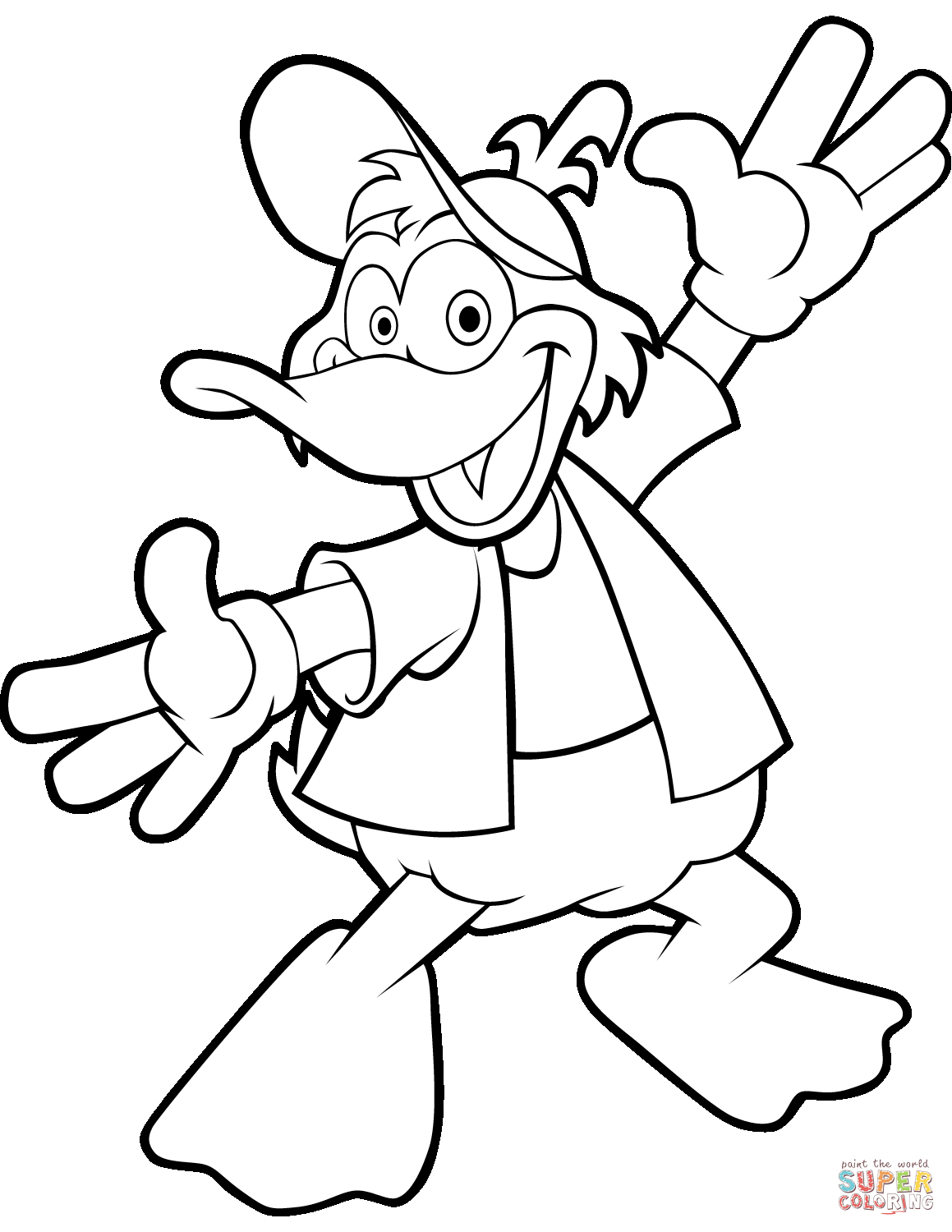 cartoon duck coloring pages clipart panda free clipart images coloring pages cartoon duck