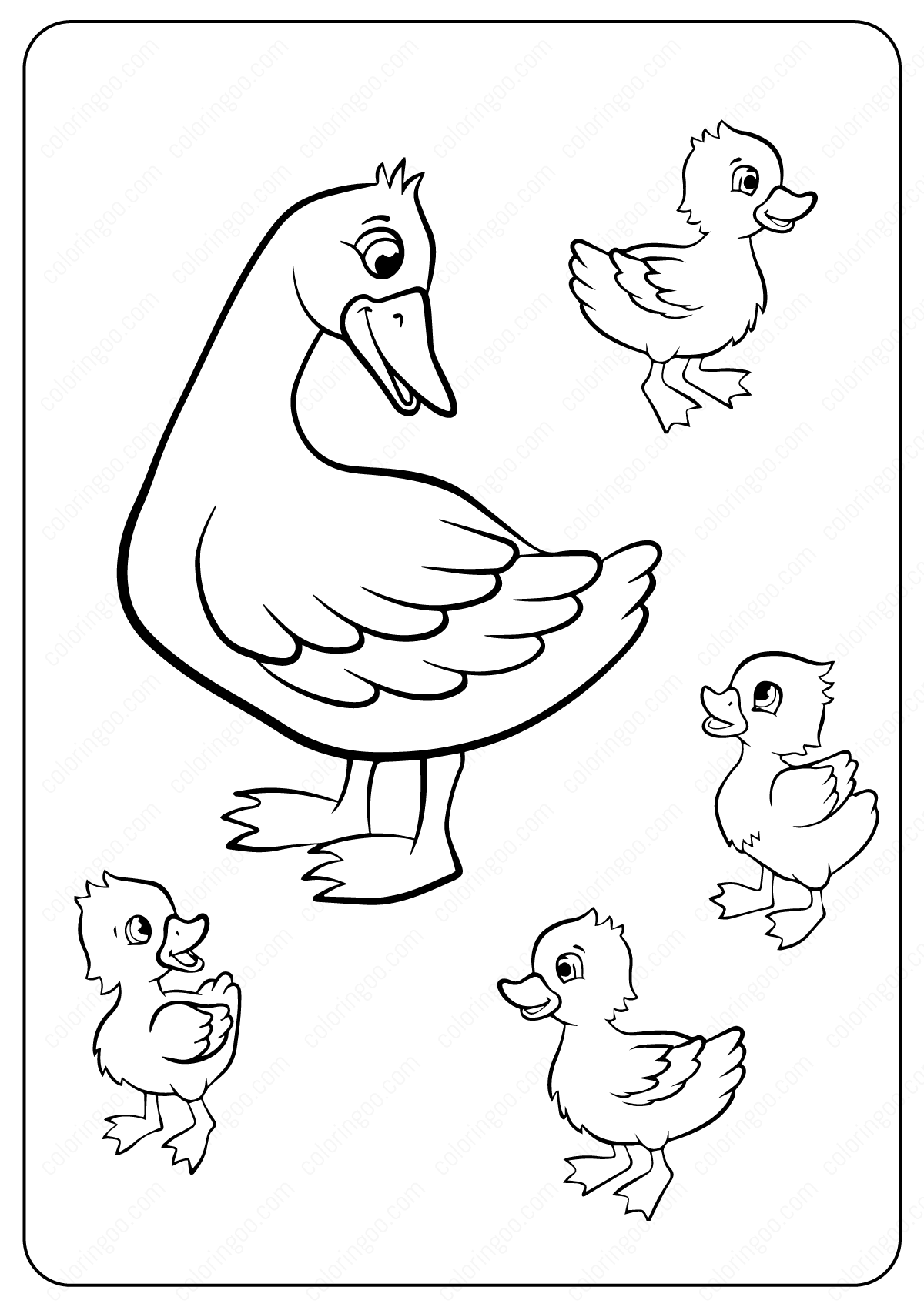 cartoon duck coloring pages picture of a cartoon duck clipartsco duck coloring cartoon pages