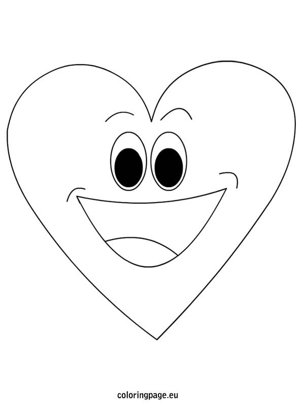 cartoon heart coloring pages valentine cartoon love heart coloring pages printable heart cartoon pages coloring