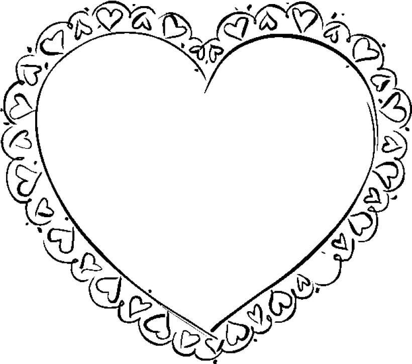 cartoon heart coloring pages valentine39s hearts in hearts coloring page crayolacom heart pages cartoon coloring