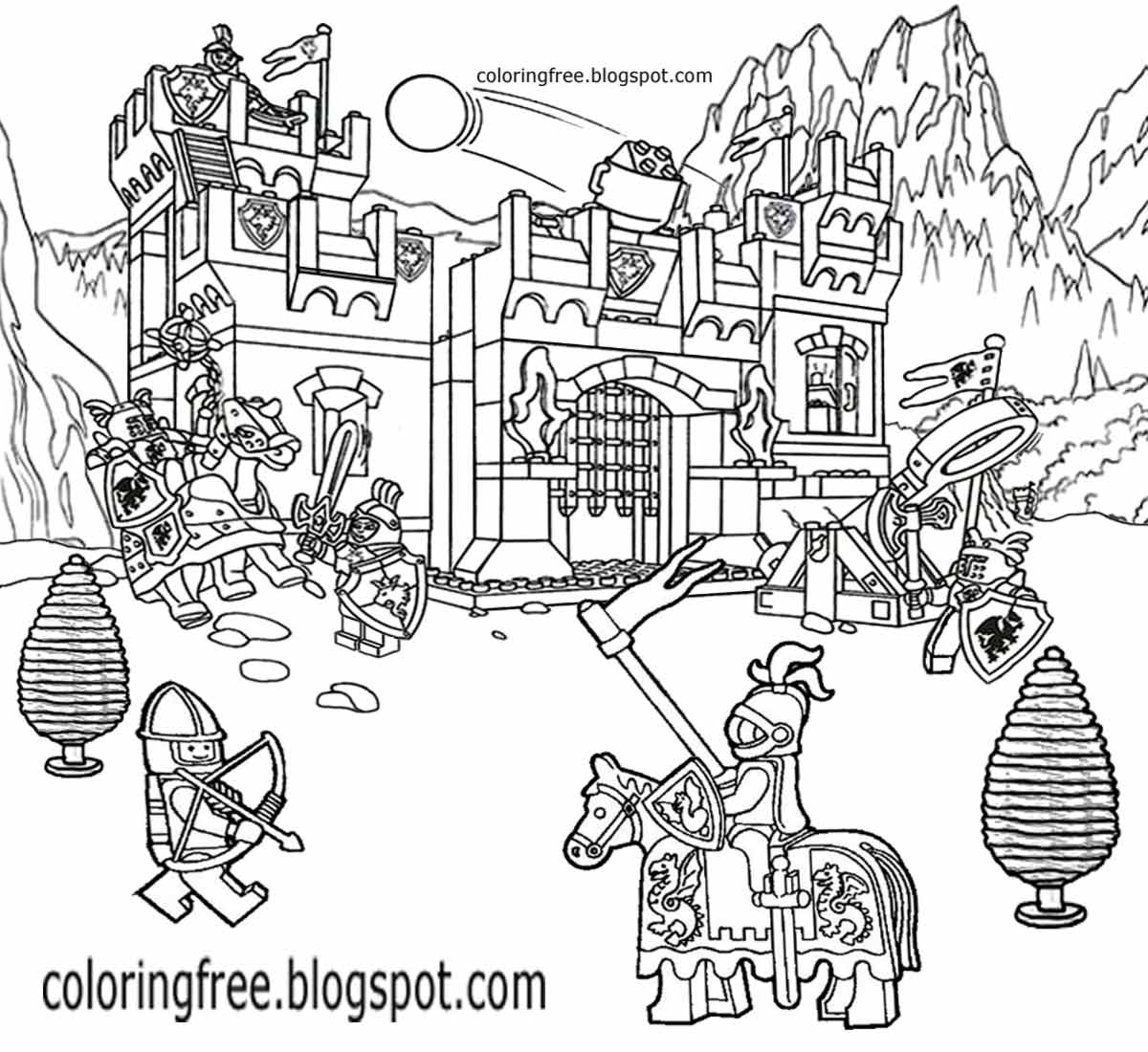 castle and knight coloring pages castles and knights coloring pages free printable castles castle knight and coloring pages