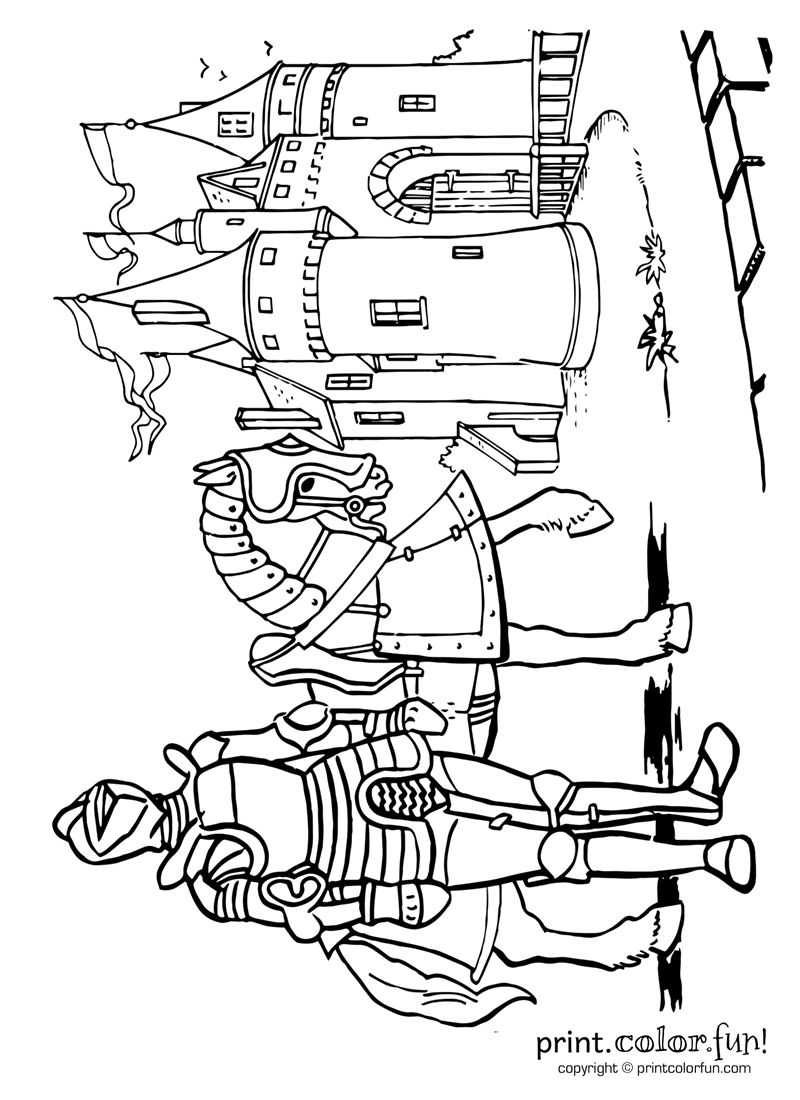 castle and knight coloring pages fairy tale castle coloring page at getcoloringscom free knight coloring and castle pages