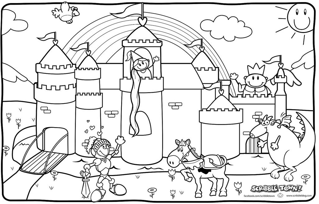 castle and knight coloring pages knight and princess coloring pages by beth princesses pages castle knight and coloring